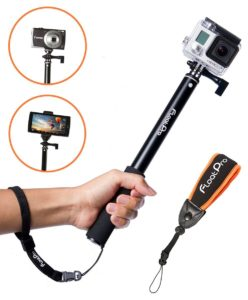 FloatPro Waterproof 3-in-1 Extendable Monopod Selfie Stick