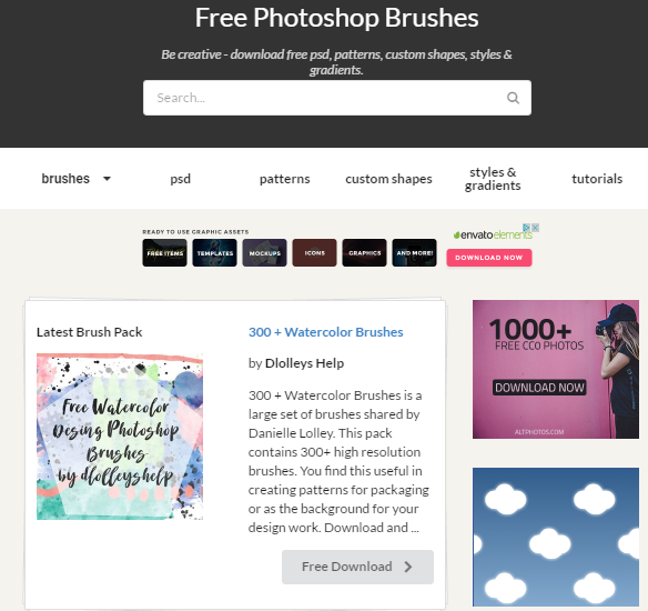 20 Sites to Download Free Photoshop Brushes | What